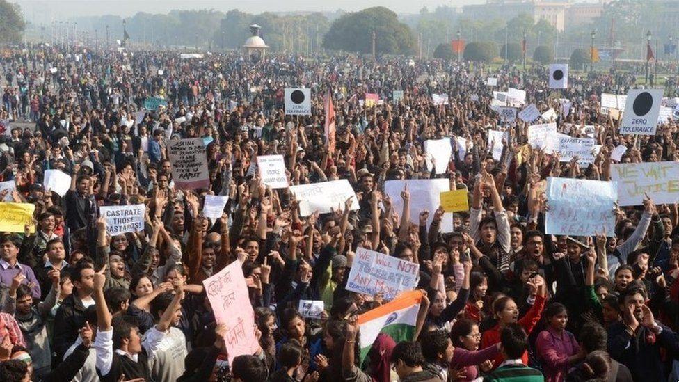 Anti-rape protesters gather in Delhi