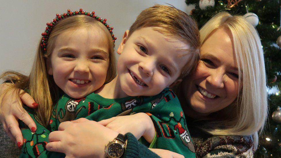 Emma Conway with her two children
