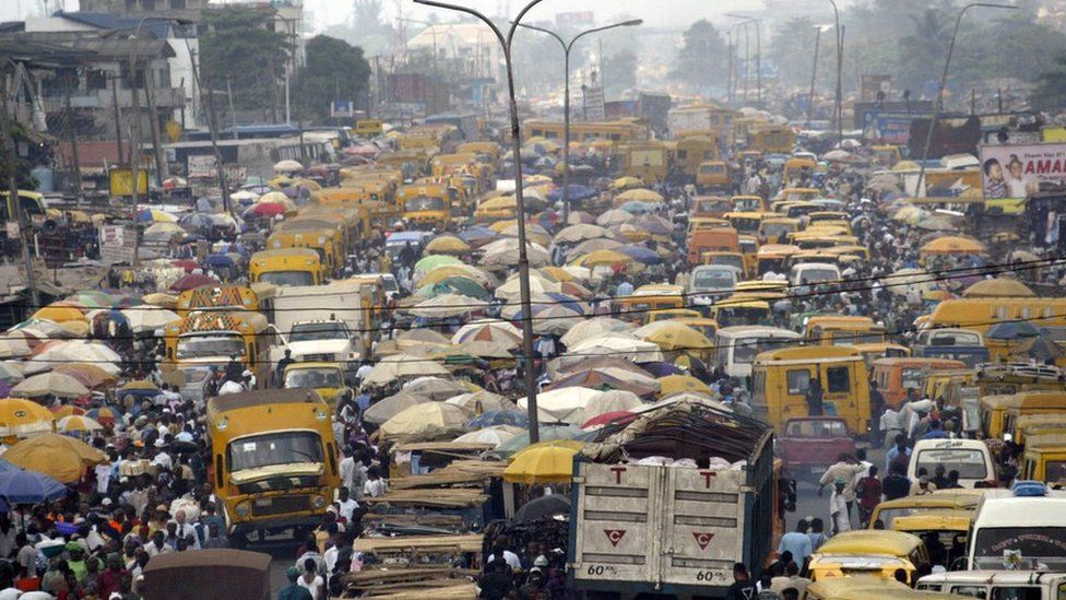 A traffic jam in Lagos