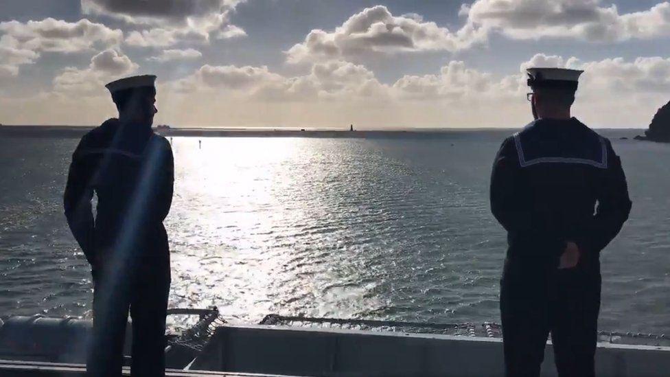 Sailors on board HMS Ocean