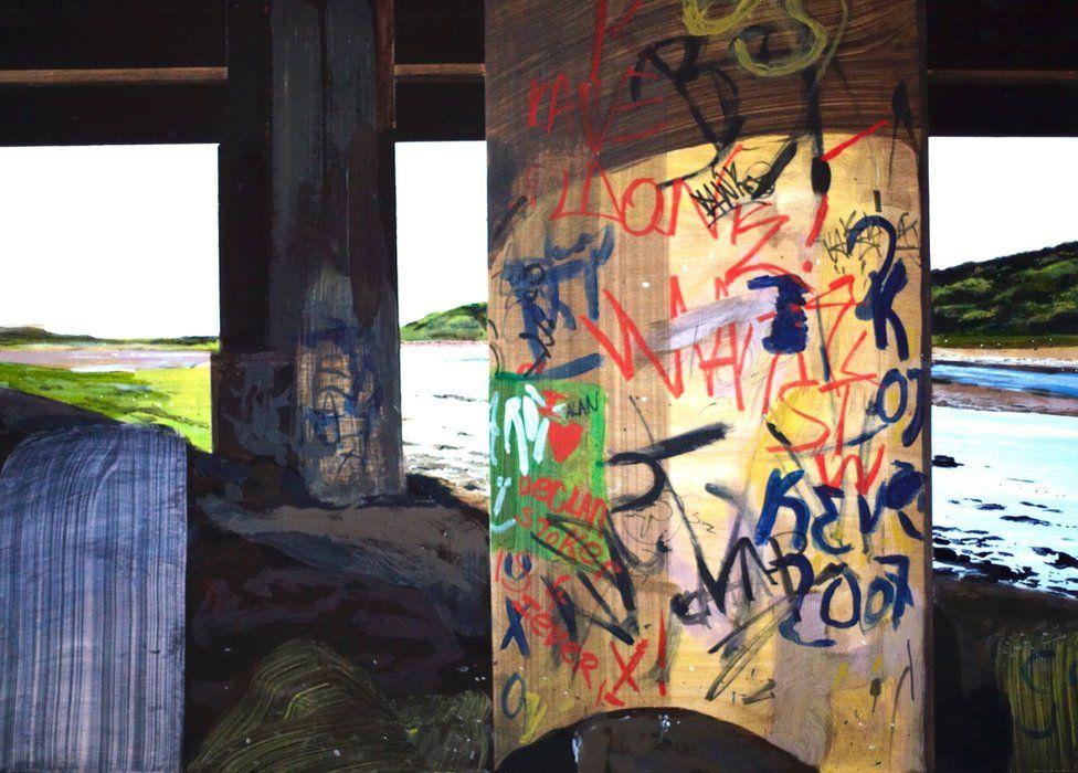Untitled Bridge Painting