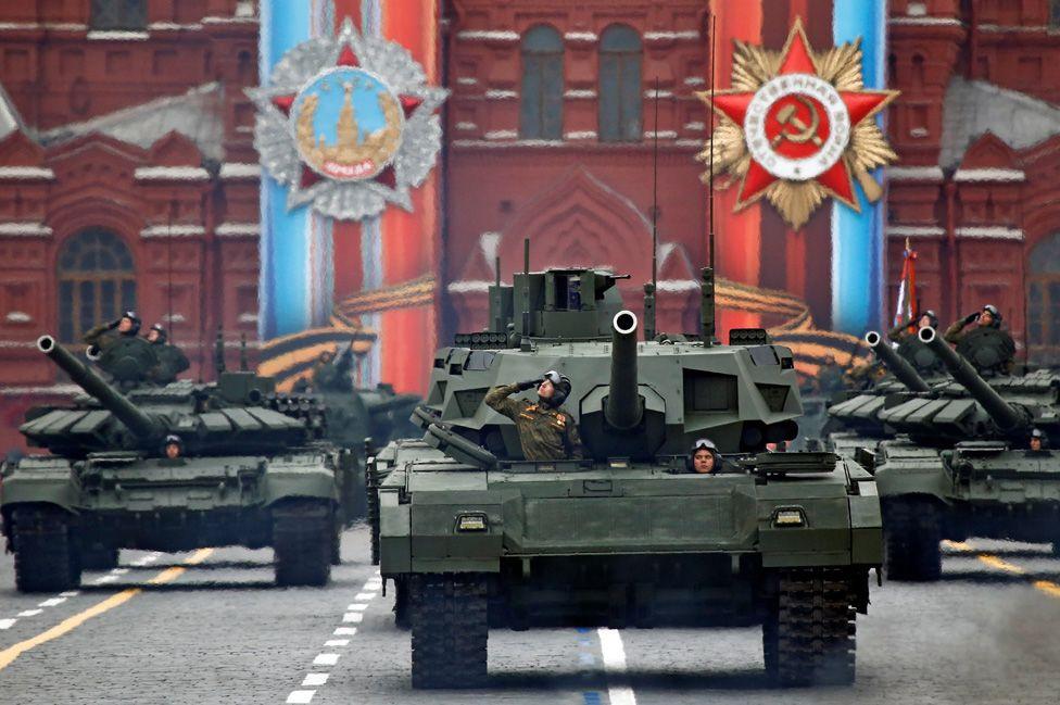 Tanks in Red Square