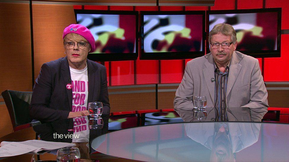 Eddie Izzard and Sammy Wilson debated Brexit on the BBC's The View programme