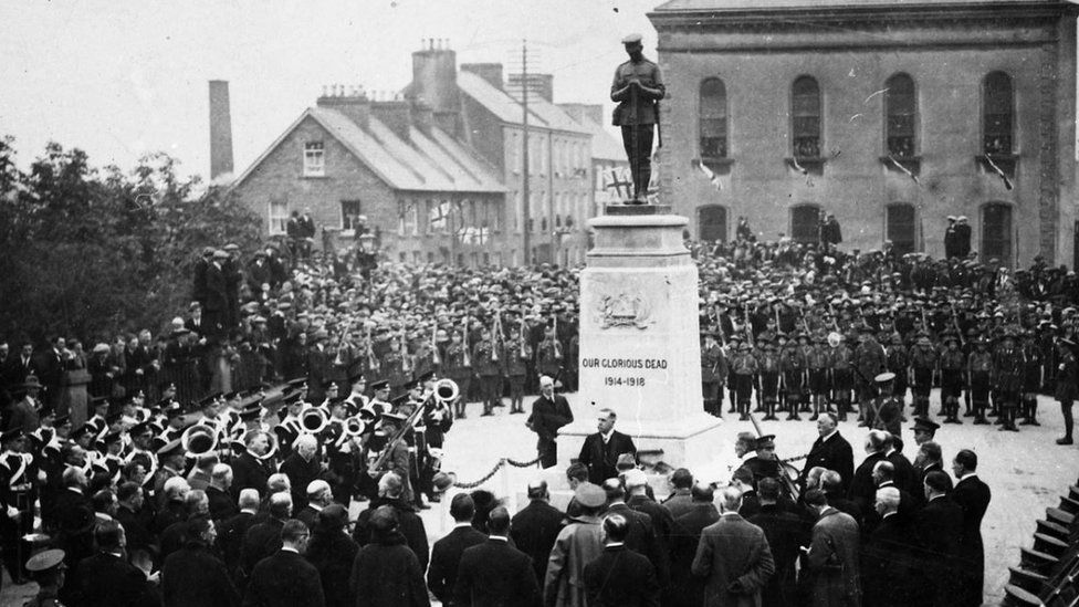 A war memorial was unveiled in the centre of Enniskillen in October 1922