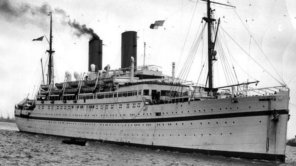 Empire Windrush ship that brought the first West Indies immigrants to Britain in the 1950s