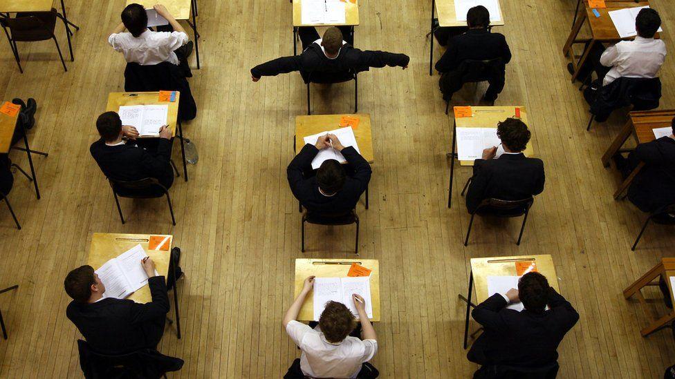 Pupils sitting exams