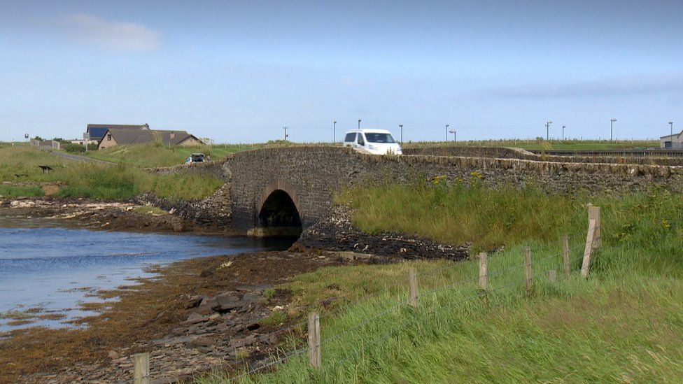 Electric car on Orkney