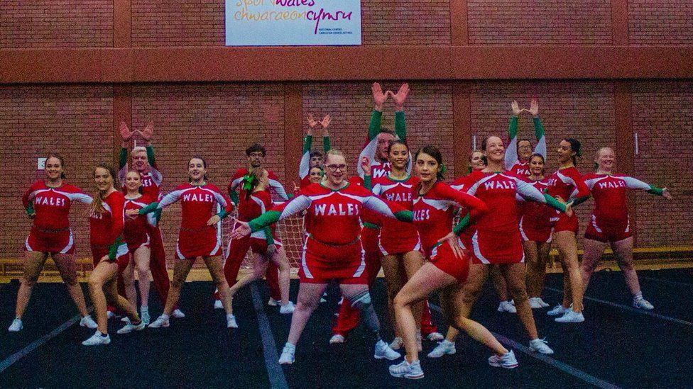 The Wales para-cheer team