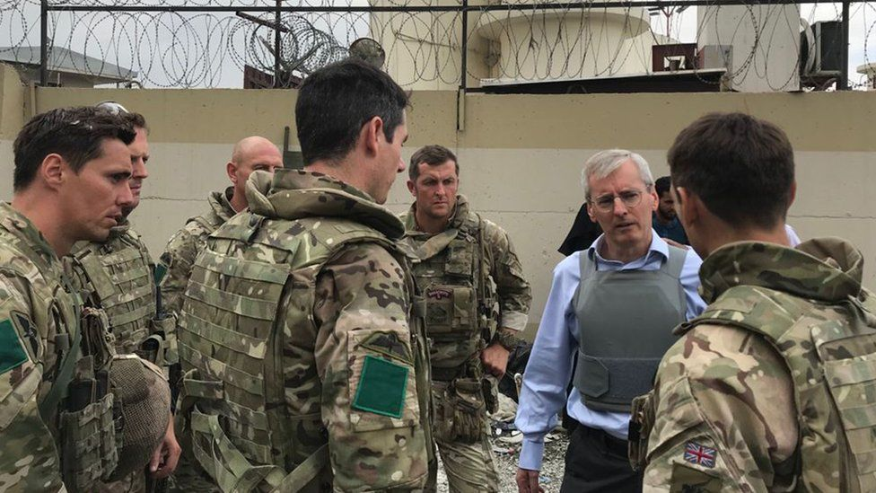 Sir Laurie Bristow at Kabul airport
