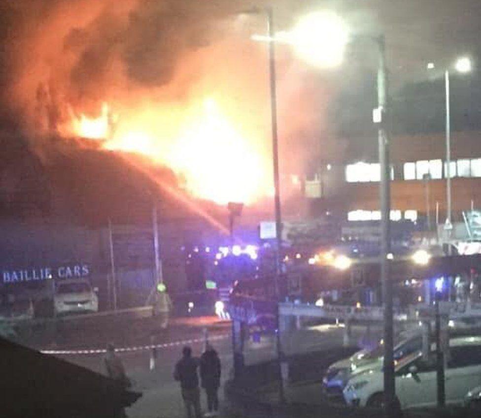 Fire in Tollcross Road