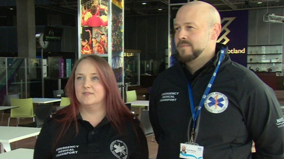 Sarah Cameron and Euan Mitchell - Scottish Emergency Rider Volunteer Service