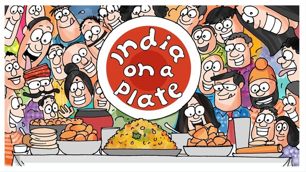India on a plate cartoon