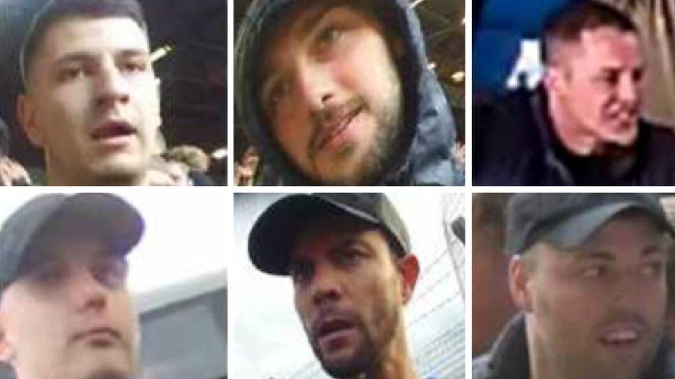 Football disorder suspects