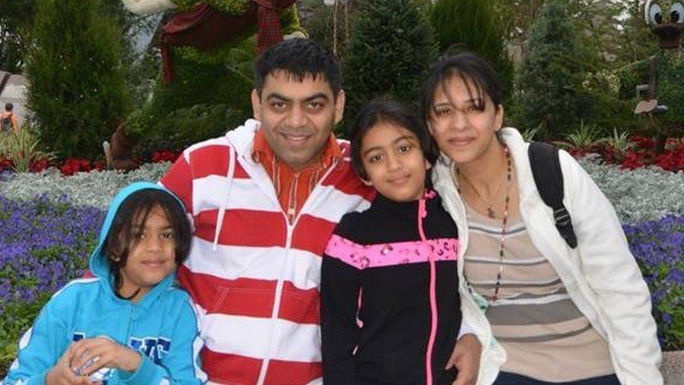 Left to right: Anushka, Prerit Dixit, Ashka and Kosha Vaidya