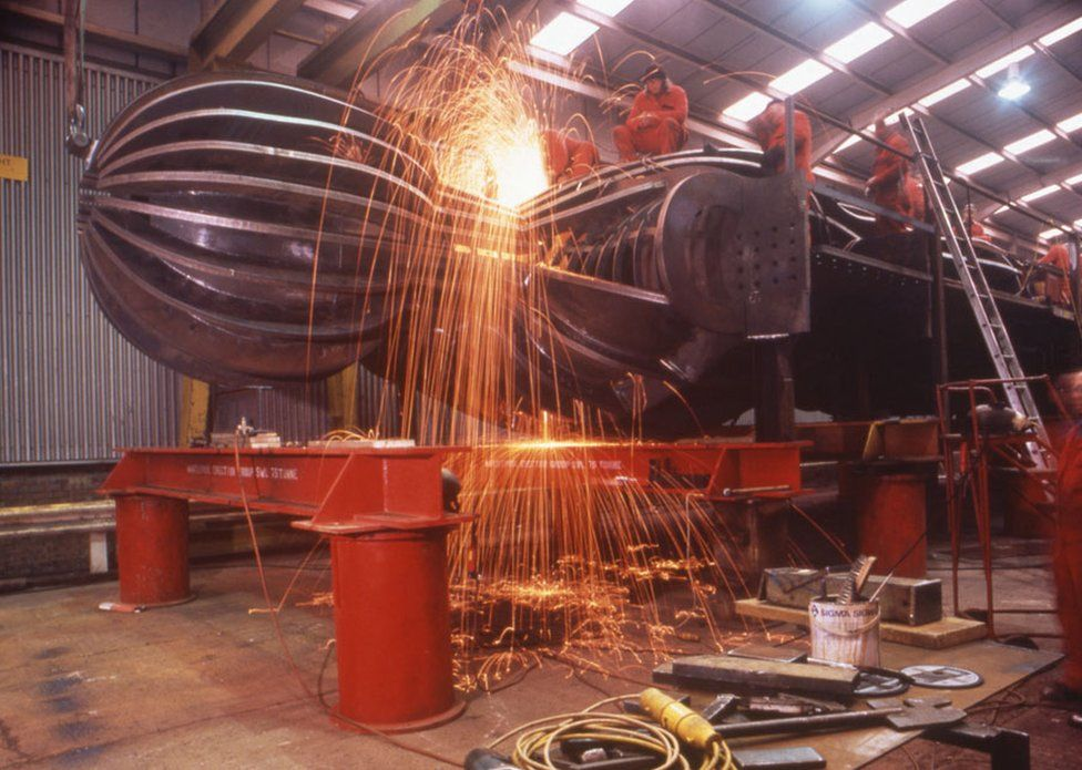 The Angel of the North in the workshop