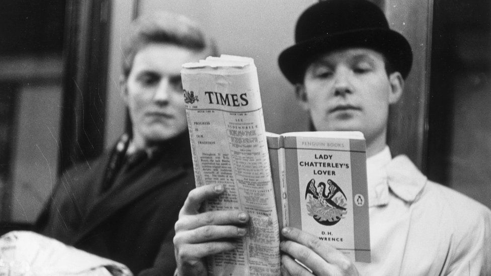 A man reading Lady Chatterley's Lover