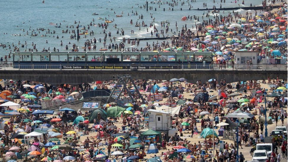Bournemouth pier 25 June 2020