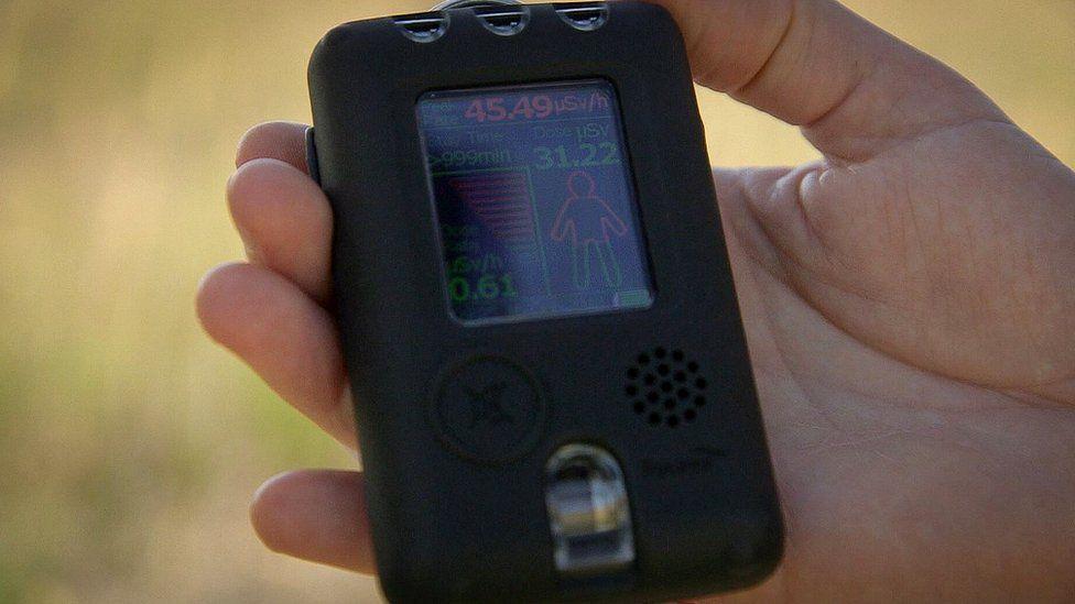 Radyasyon seviyesini ölçen dozimetre