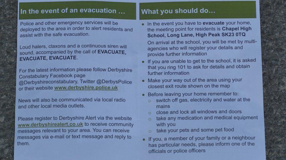 Evacuation advice