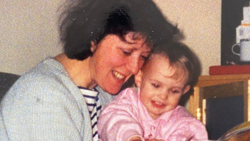 Rosie and her mum Trish pictured in 1994