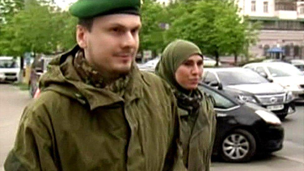 Chechen couple - archive photo