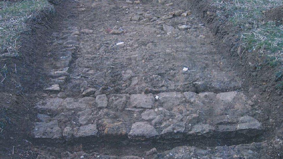Roman villa wall