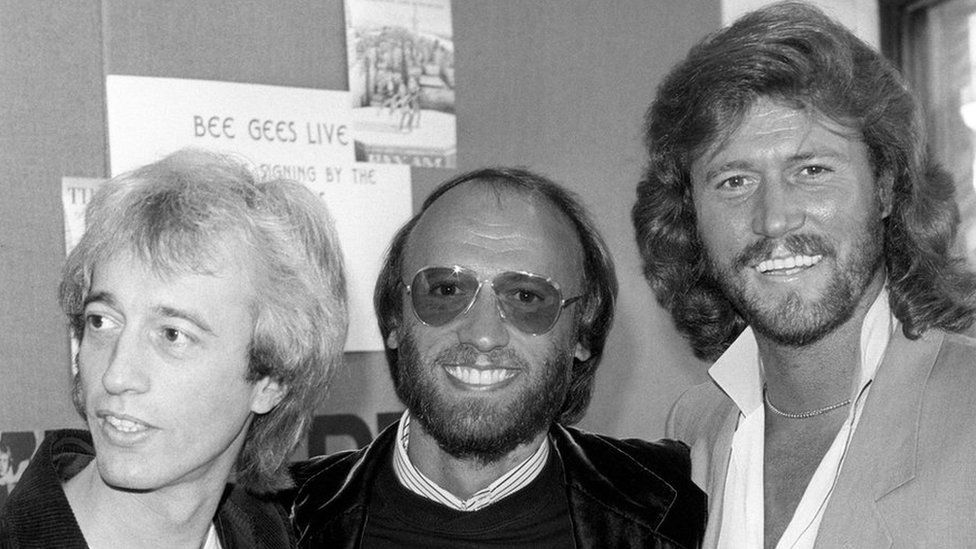 Robin, Maurice and Barry Gibb in 1983