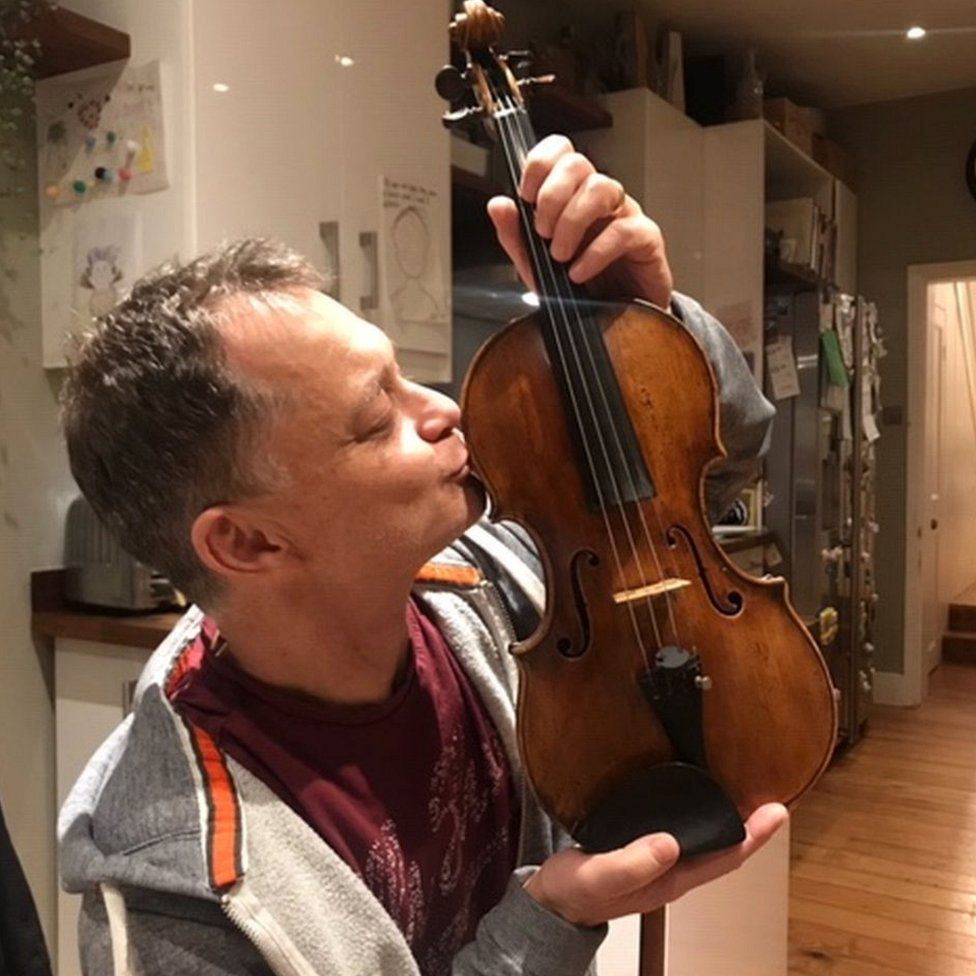 Stephen Morris with his violin