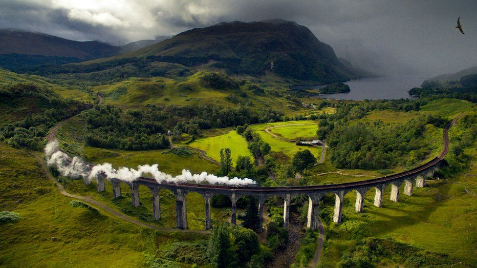 The Glenfinnan Viaduct along the West Highland Line