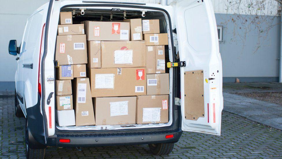 Van with doors open