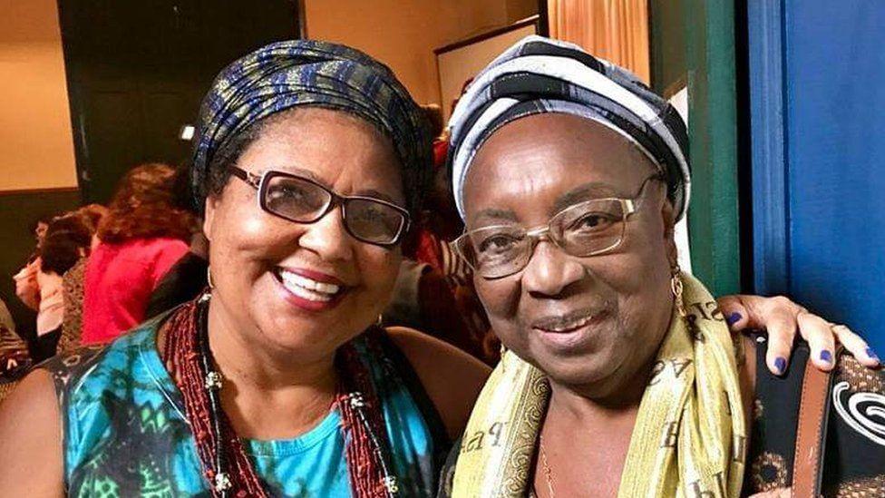 Mãe Nilce de Iansã and her aunt, Mãe Meninazinha de Oxum