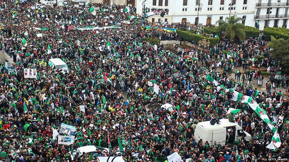 Birds-eye view of protests