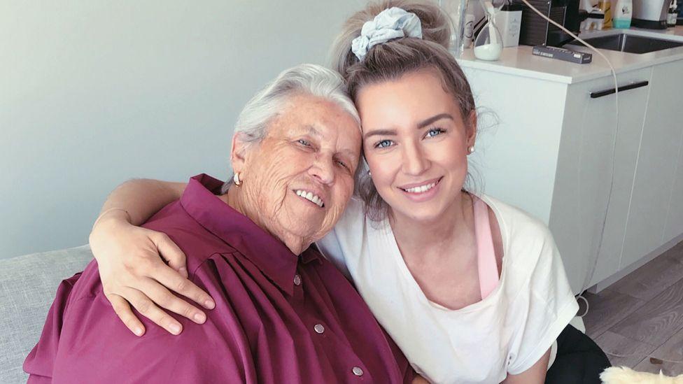 Tara Bosch with her grandmother