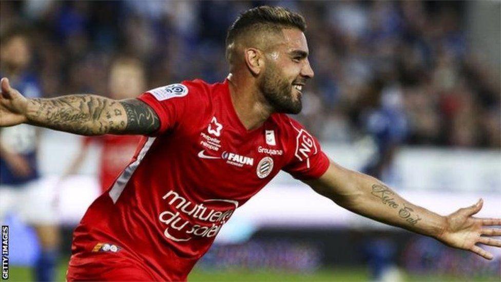 Andy Delort, attaquant de Montpellier, veut jouer pour l'Algérie