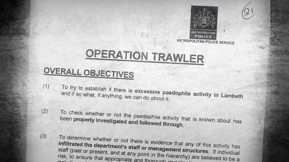 Front page of Operation Trawler