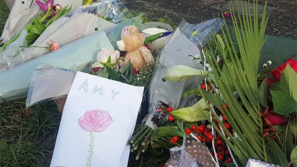 Floral tributes to Amy