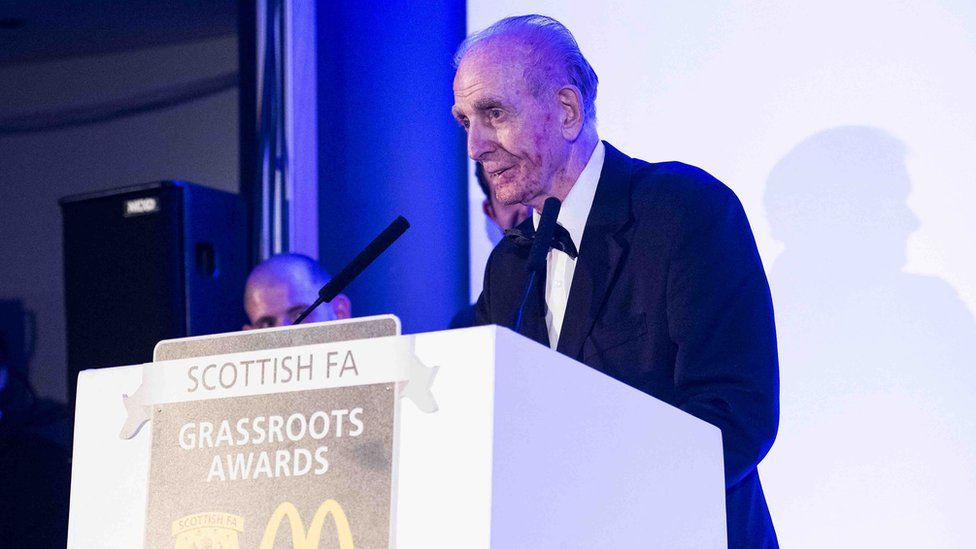 "Larry Barilli was highlighted as ""a shining example"" of the impact volunteers have on Scottish football."