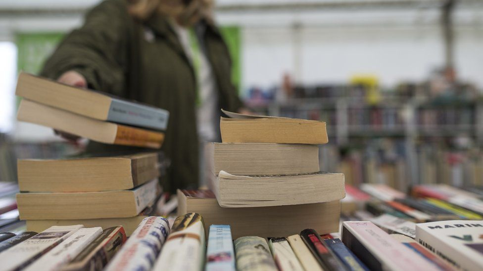 Second-hand books at Hay Book Festival