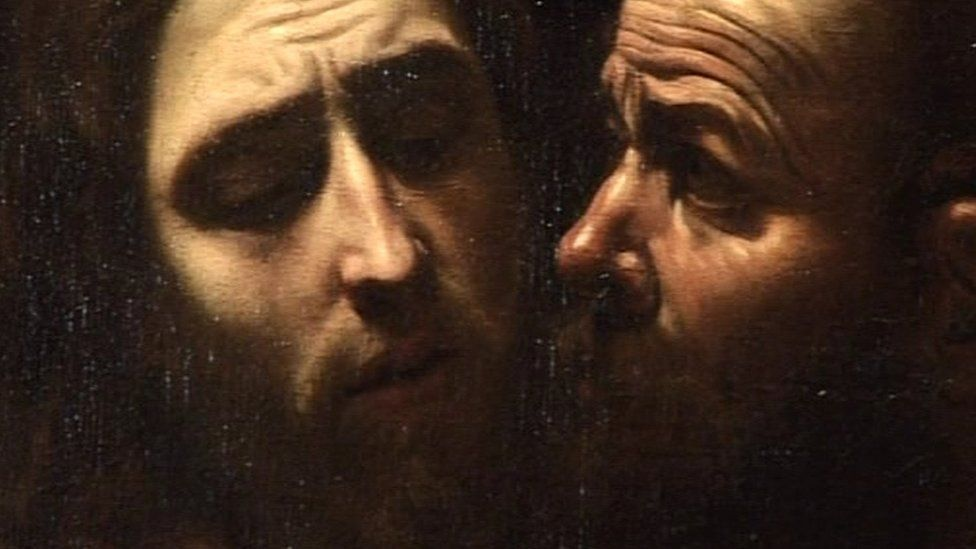 """Close-up detail from """"The Taking of Christ"""""""