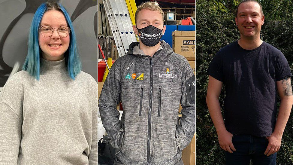 Apprentices Martha McKeown, xx and Steven Sydenham