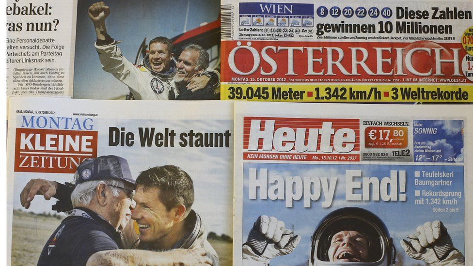 Selection of Austrian newspapers