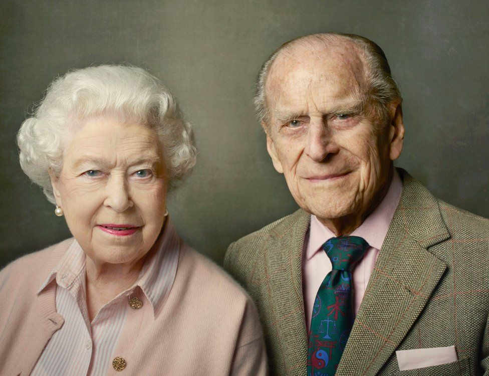 90th birthday portrait of the Queen and Prince Philip