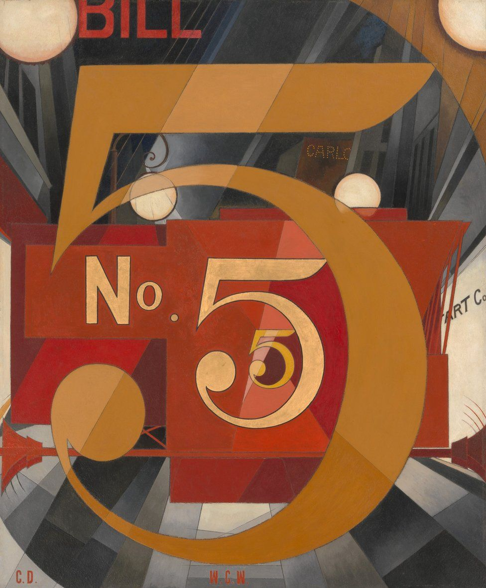 I Saw the Figure 5 in Gold by Charles Demuth (1928)