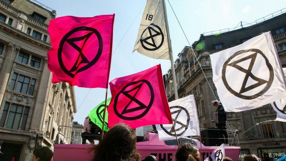 Extinction Rebellion flags