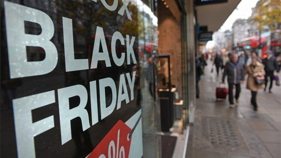 Black Friday poster in shop