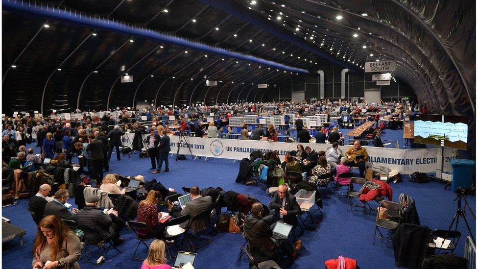 Vote count at Titanic Belfast