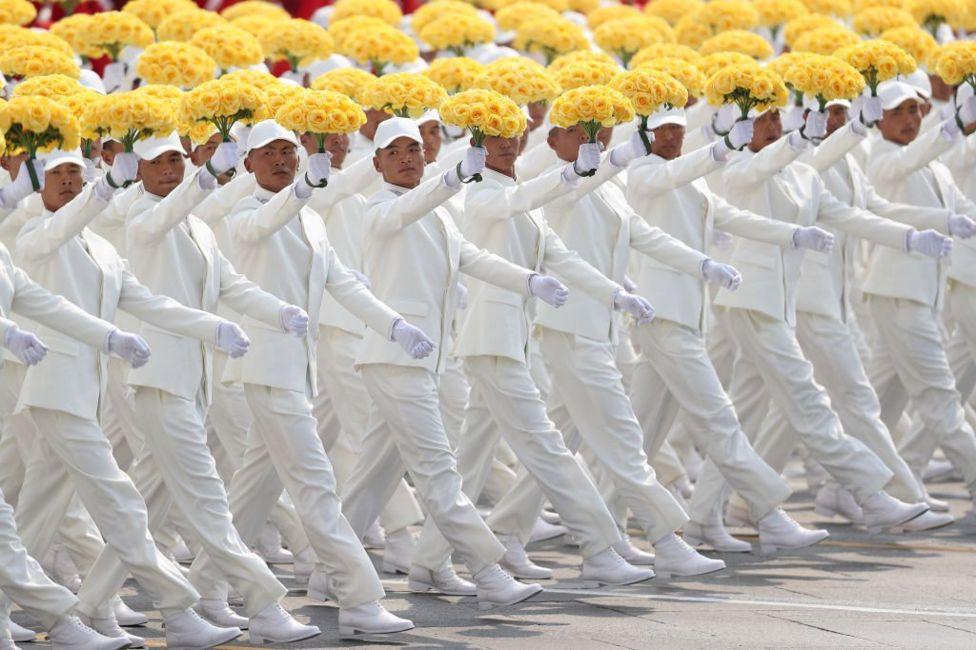 Китайські хлопці на параді в честь 70-ліття КНР