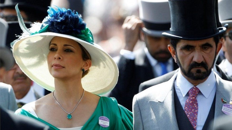 Princess Haya Bint Al-Hussein and Dubai ruler Sheikh Mohammed Al-Maktoum (file photo)