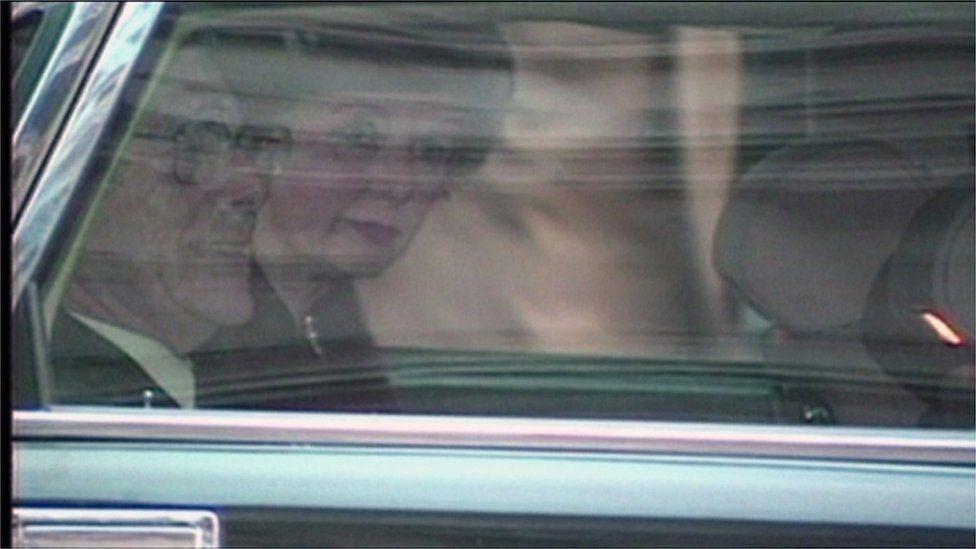 Margaret Thatcher leaves Downing Street in November 1990