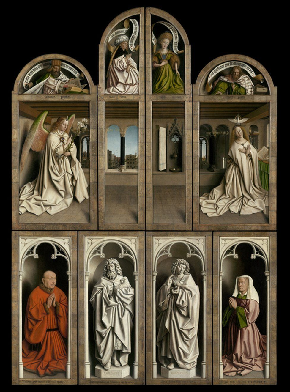 The Adoration of the Mystic Lamb, 1432 (better known as the Ghent Altarpiece), which was painted by Jan and Hubert van Eyck, is considered to be one of the world's most significant works of art